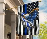 Eagle Thin Blue Line American House Flag