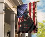 Soldier Home Of The Free U.S House Flag For Decor