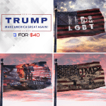 3 For Forty Trump Printed House Flag