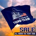 All Aboard The Trump Train For Trump President 2020 Flag