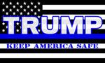 Thin Blue Trump Keep America Safe House Flag