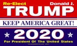 Official Trump 2020 Keep America Great House Flag
