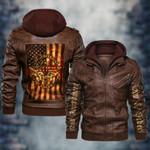 Trump 2020 Law And Order Amendment PU Leather Jacket