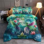 Hummingbirds Heart Shaped Printed Bedding Set Bedroom Decor