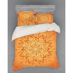 Lotus Pattern Printed Bedding Set Bedroom Decor