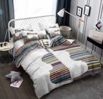 Guitar Fabric Colorful Stripes Bedding Set Bedroom Decor