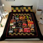 Love Black Woman  Printed Bedding Set Bedroom Decor