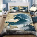Horse Art Running Wildlife Printed Bedding Set Bedroom Decor