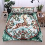 Lovely Reindeer Circle Paisley Printed Bedding Set Bedroom Decor