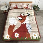 Fox Playing Butterflies Printed Bedding Set Bedroom Decor