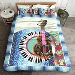 Guitar And Piano World Printed Bedding Set Bedroom Decor
