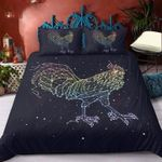 Geometric Chicken Rooster Printed Bedding Set Bedroom Decor