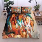 Horse Color Printed Bedding Set Bedroom Decor