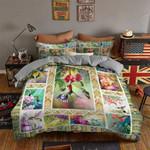 Hummingbird Suck Pistil Flower Bedding Set Bedroom Decor