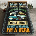 I Rescue Fabric From The Quilt Shop Printed Bedding Set Bedroom Decor