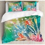 Lilacs Painting Art Printed Bedding Set Bedroom Decor