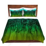 Green Forest Trees Printed Bedding Set Bedroom Decor