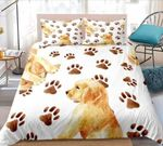 Golden Retriever With Paws Printed Bedding Set Bedroom Decor