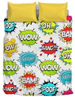 Kids Collection Wow Bam Poof Bedding Set Bedroom Decor
