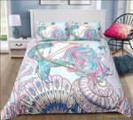Mermaid Seashell Art Printed Bedding Set Bedroom Decor
