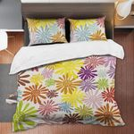 Hippie Colorful Flower Printed Bedding Set Bedroom Decor