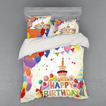 Happy Birthday Cute Cake Bedding Set Bedroom Decor