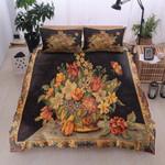 Jar Of Flower Royalty Printed Bedding Set Bedroom Decor