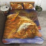 Lazy Cat Autumn Printed Bedding Set Bedroom Decor