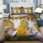 Goat Flower Garden Printed Bedding Set Bedroom Decor