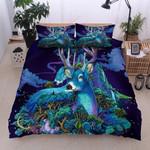 Magical Deer Purple Night Printed Bedding Set Bedroom Decor