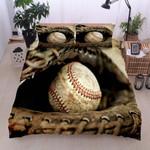 Glove Baseball Vintage  Bedding Set Bedroom Decor