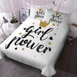 Girl Power Crown Printed Bedding Set Bedroom Decor