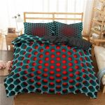 Hippie Blue And Red Bedding Set Bedroom Decor