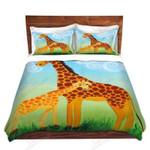 Giraffes Mother And Kid Bedding Set Bedroom Decor