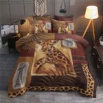 Giraffe Vintage Design Printed Bedding Set Bedroom Decor