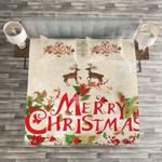 Merry Christmast Reindeers Bedding Set Bedroom Decor