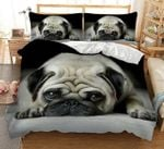 Innocent Pug 's Face Printed Bedding Set Bedroom Decor