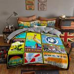 Louisiana Arctic Square Printed Bedding Set Bedroom Decor