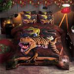 Dinosaurs Fight Printed Bedding Set Bedroom Decor