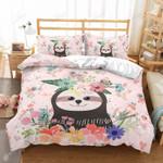 Happy Sloth Printed Bedding Set Bedroom Decor