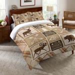 Country Cabin Deer Great Outdoor Printed Bedding Set Bedroom Decor