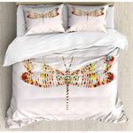 Dragonfly Wild And Free Printed Bedding Set Bedroom Decor