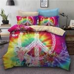 Colorful Mandala Peace Sign Printed Bedding Set Bedroom Decor