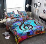 Colorful Musical Note Art Bedding Set Bedroom Decor