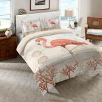 Coastal Flamingo  Printed Bedding Set Bedroom Decor