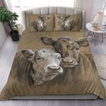 Couple Cow Feeling Sad Printed Bedding Set Bedroom Decor