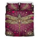 Dragonfly Freedom Printed Bedding Set Bedroom Decor