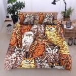 Cozy Owls Family Printed Bedding Set Bedroom Decor
