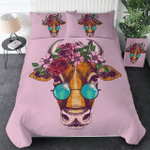 Cute Cow Wear Glass Printed Bedding Set Bedroom Decor