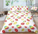Colorful Lip  Printed Bedding Set Bedroom Decor